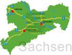 Vereine auf der Karte von Sachsen