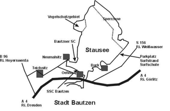 Uebersichtskarte Bautzener Stausee