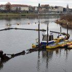 Hafen Pirna Entschlammung 15.12.2016