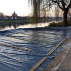 Hafen Pirna Vorbereitung Parkplatz zum Schlammtrocknen 25.11.2016
