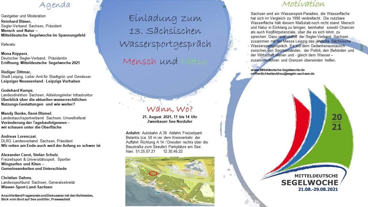 Agenda Wassersportgespräch 2021